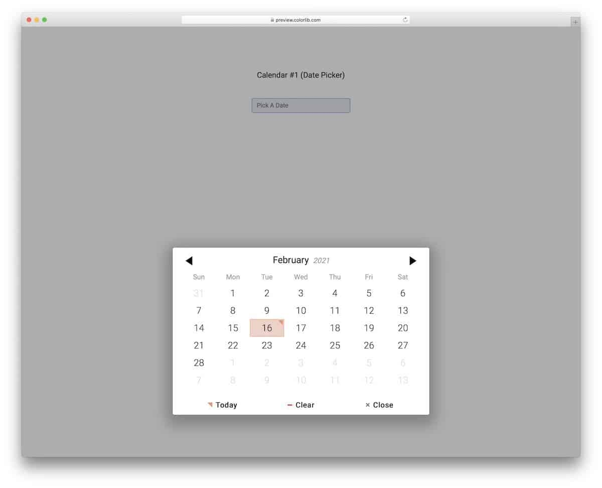 easy to use bootstrap date picker