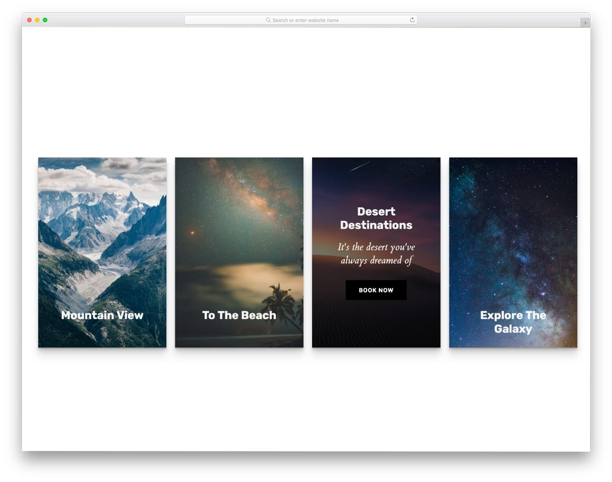 bootstrap cards hover animations