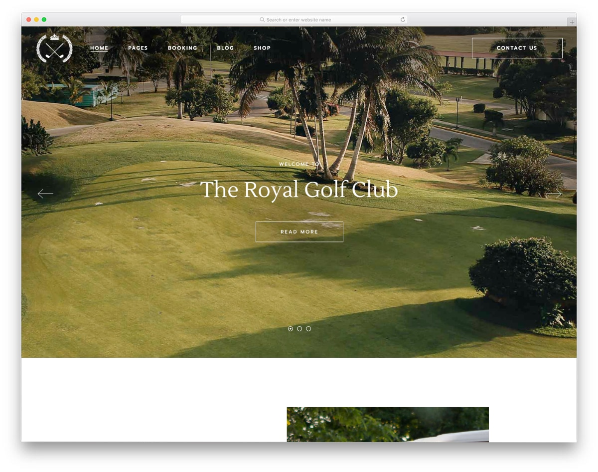feature-packed WordPress golf theme