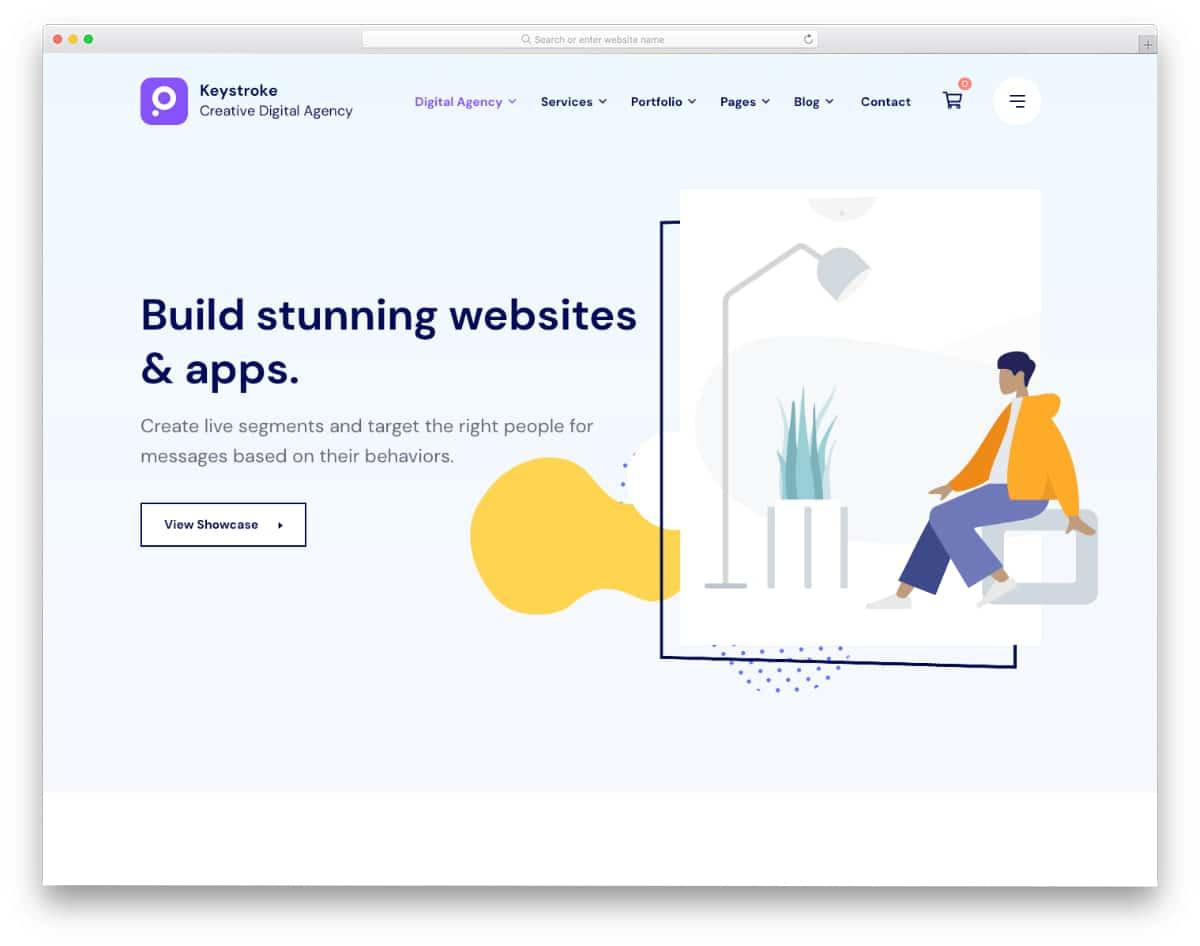 visually pleasing digital agency WordPress theme