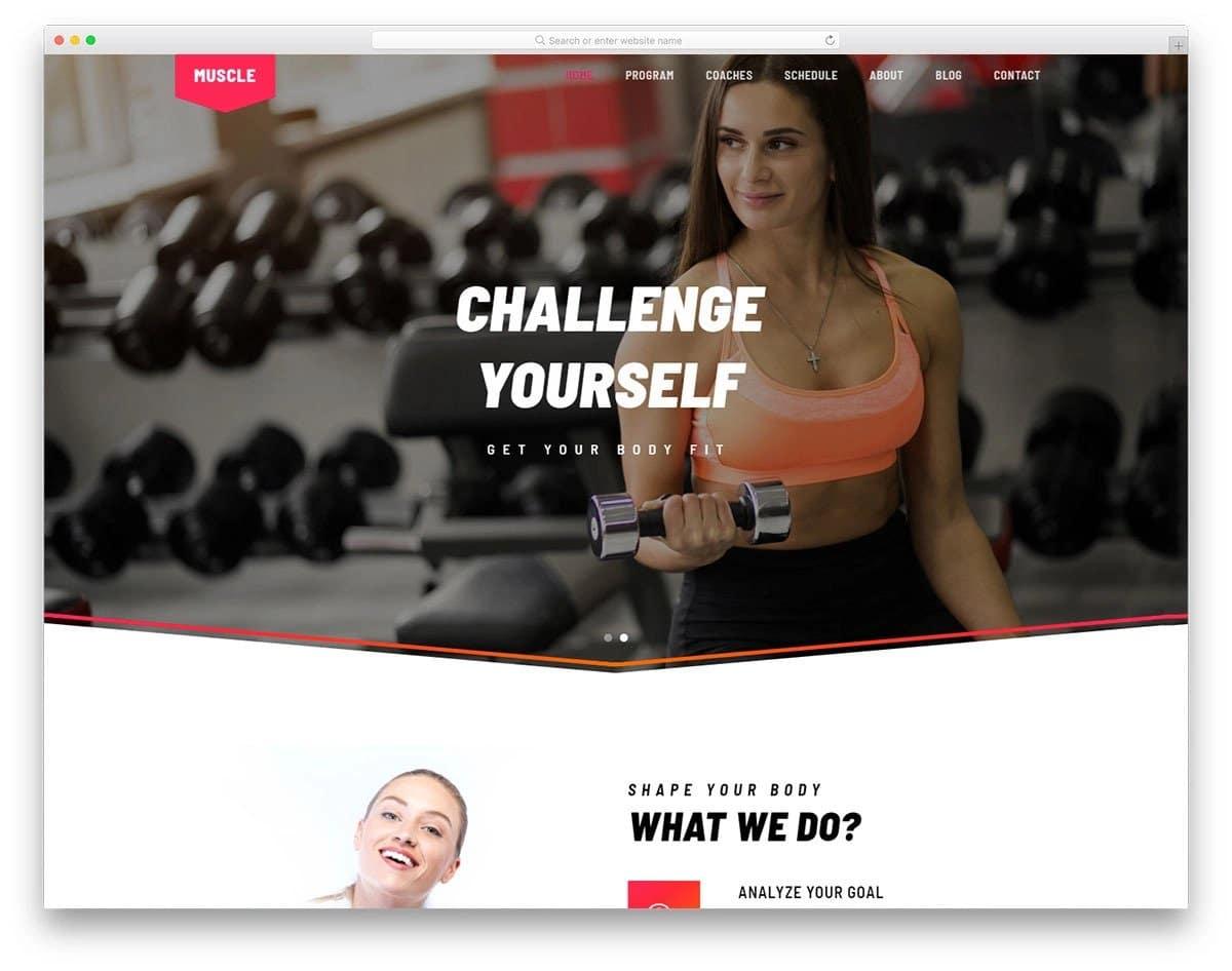 brand-focused fitness website templates