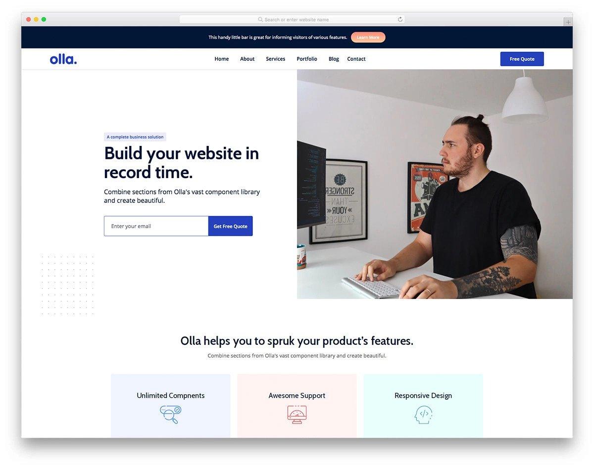 modern visual studio website template
