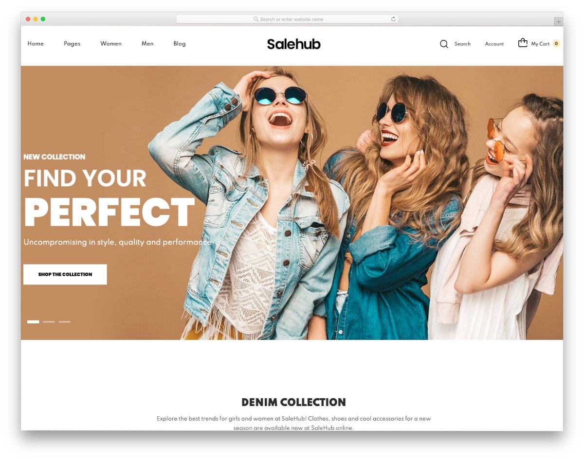 fashion store Minimal shopify theme