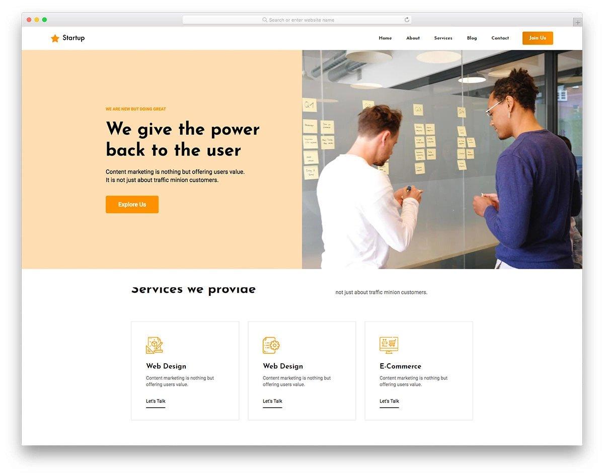 brand-focused visual studio website templates