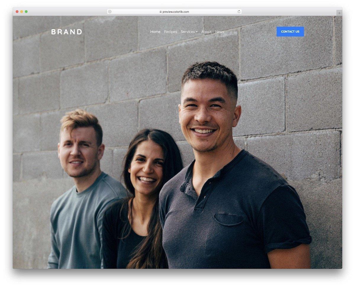transparent bootstrap menu