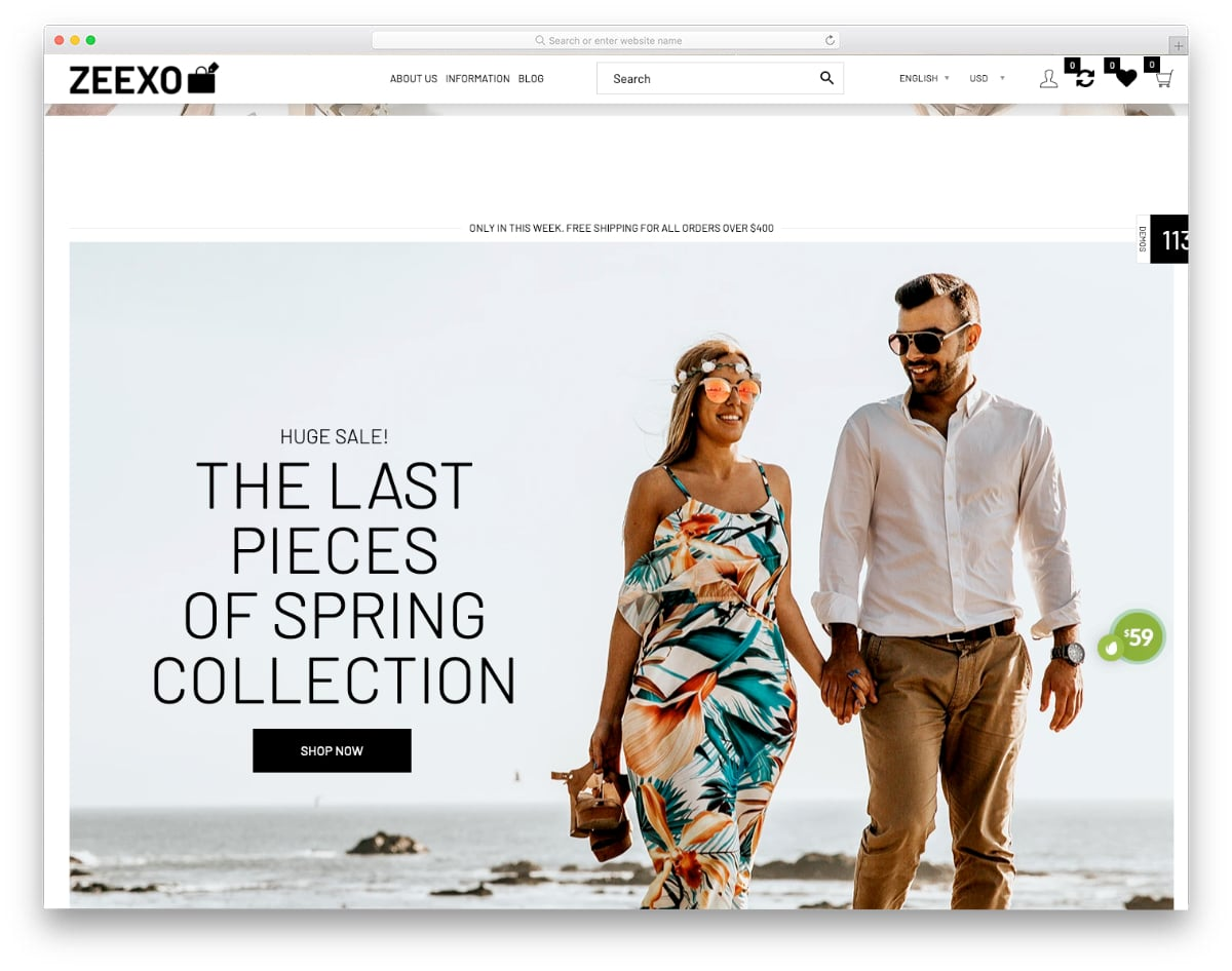 multipurpose Shopify Theme with simple designs