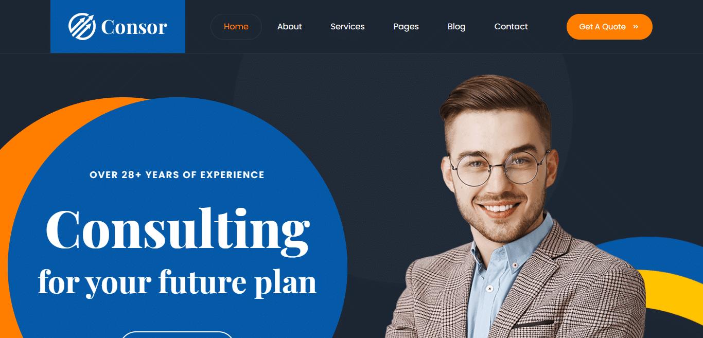 consor-finance-website-template