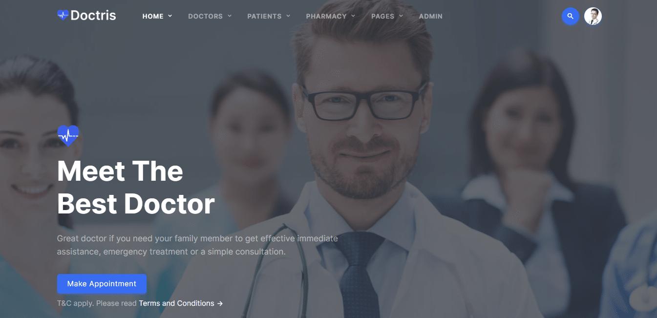 doctris-hospital-website-template