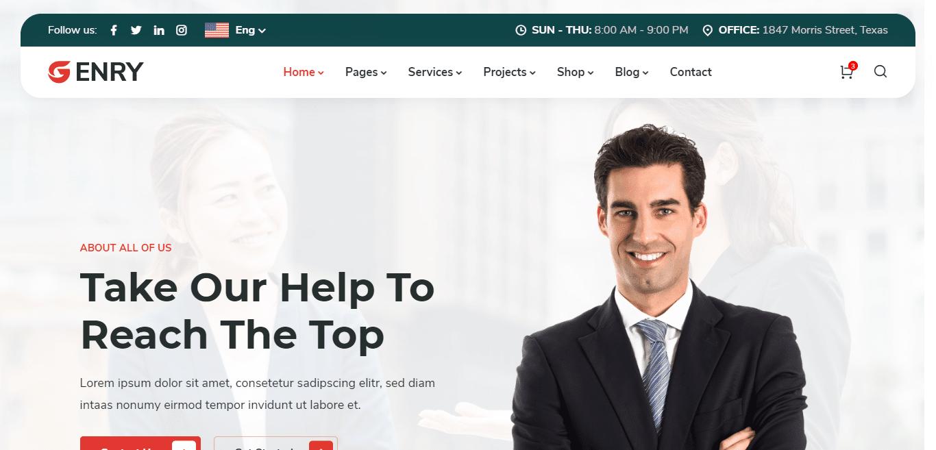 enry-finance-website-template