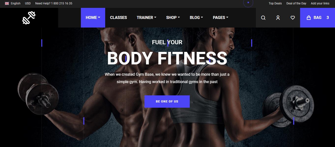 gymnast-sports-website-template