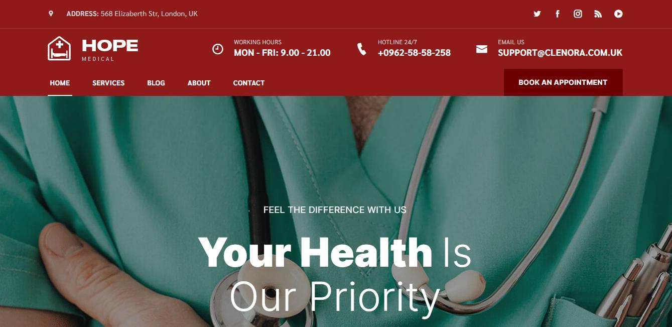 hope-hospital-website-template