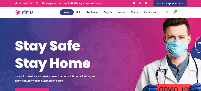 sirus-hospital-website-template