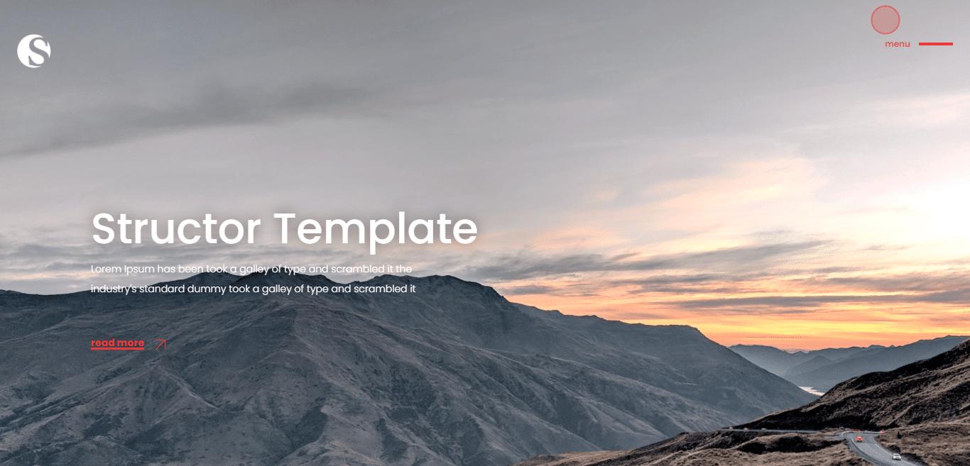 structor-gallery-website-template