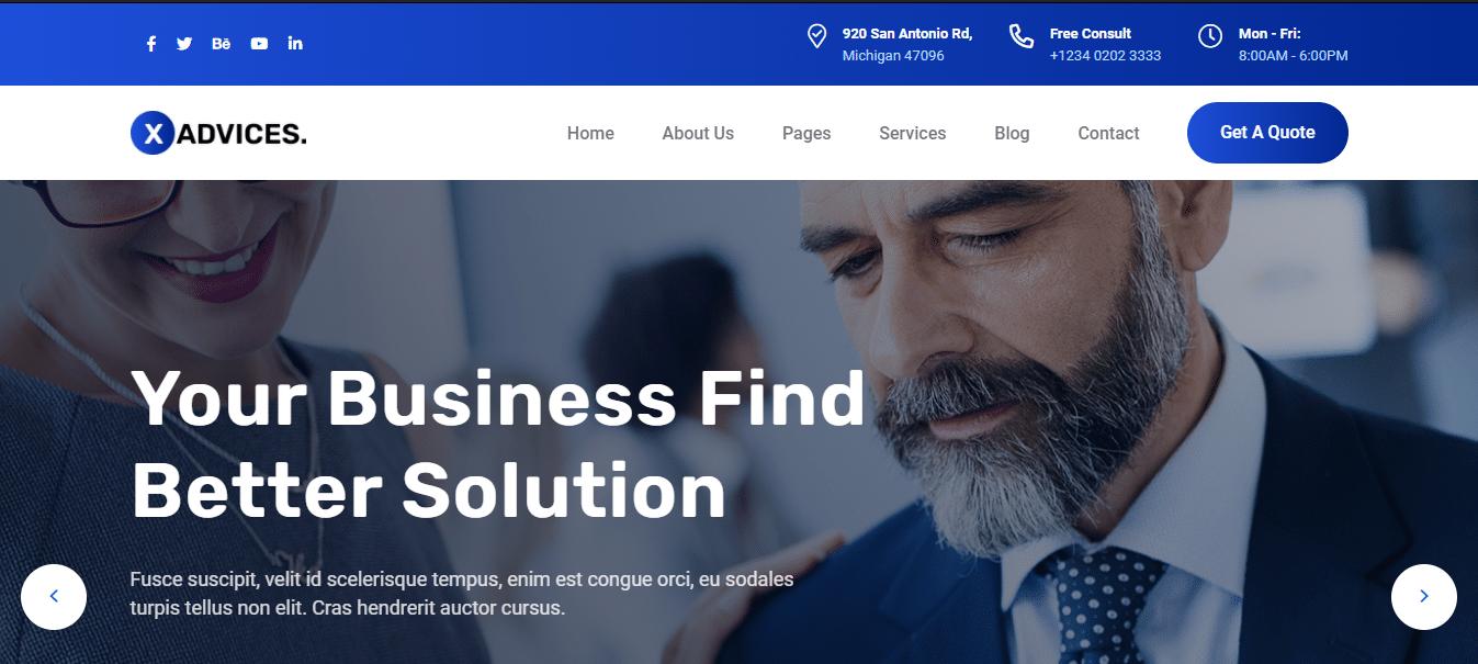 xadvices-finance-website-template