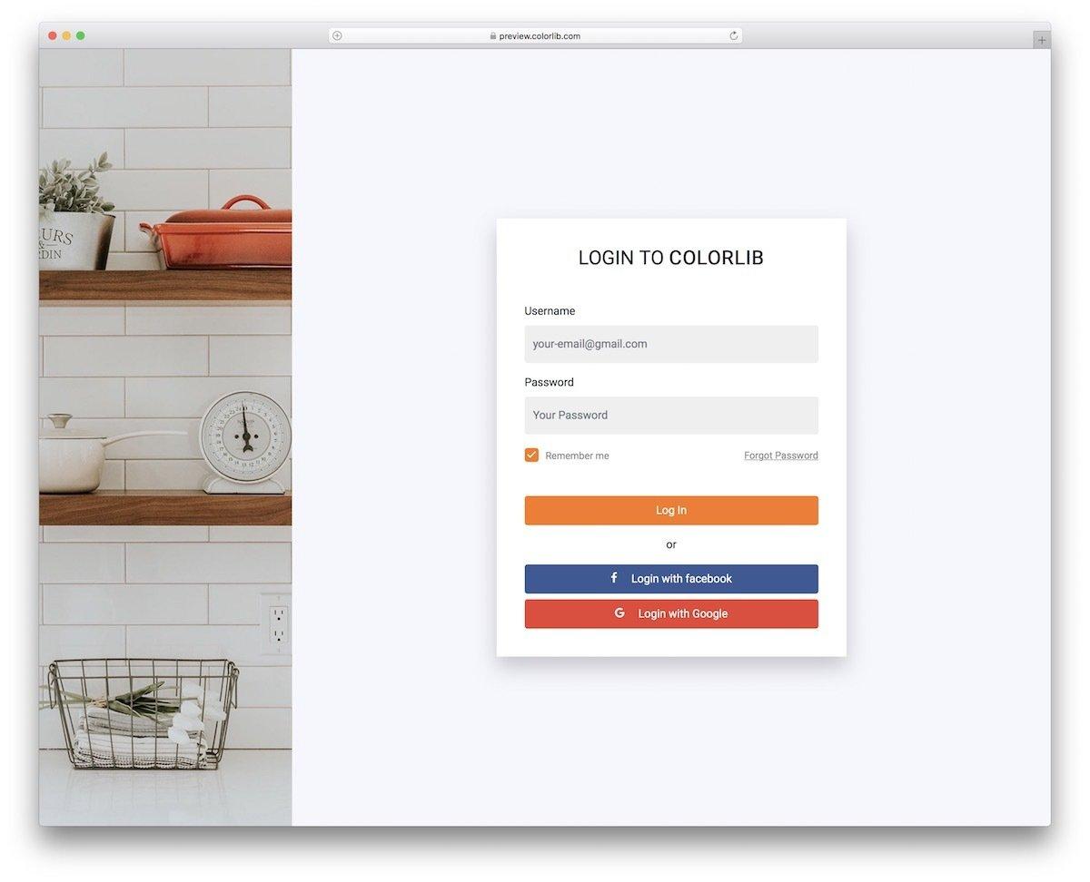 employee login form template