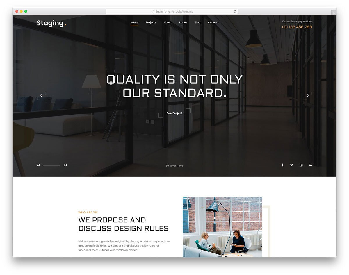 contemporary style simple CSS template
