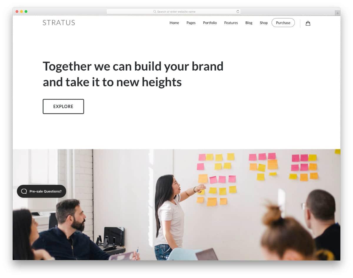 lead generation WordPress theme for startups