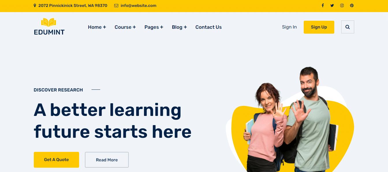 edumint-education-website-template