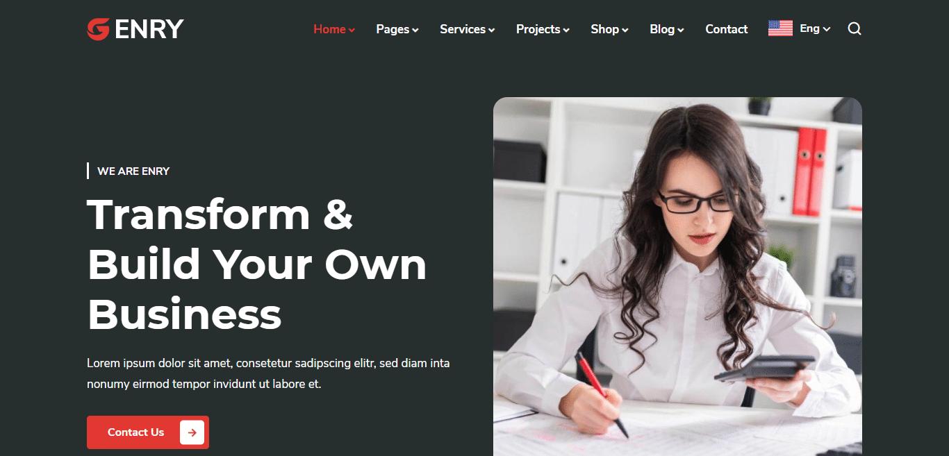 enry-education-website-template