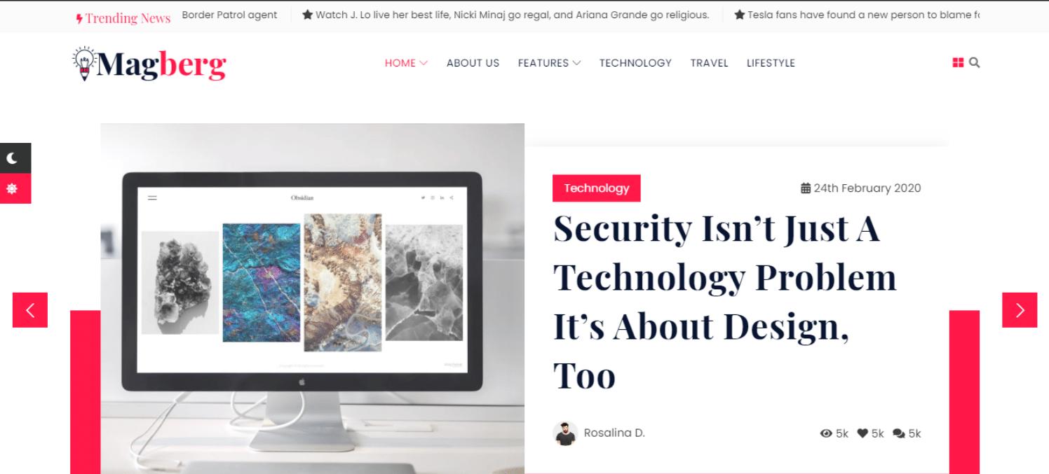 magberg-news-website-template