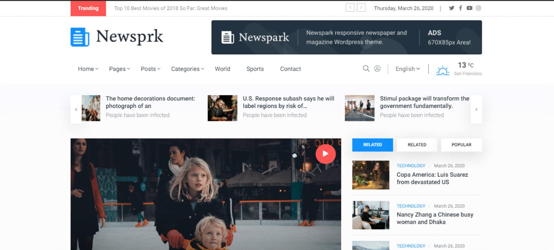 newsprk-news-website-template