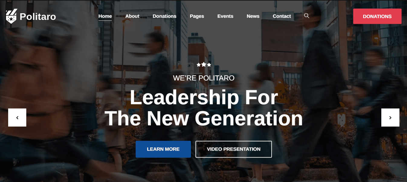 politaro-political-website-template