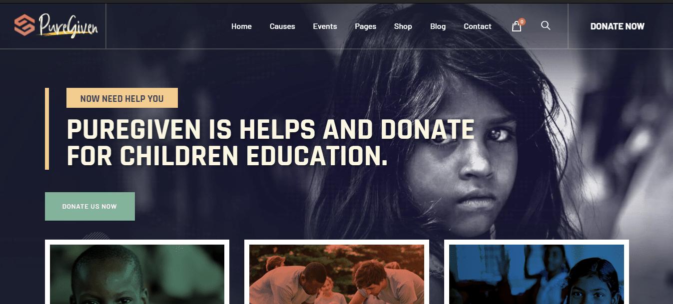 puregiven-political-website-template
