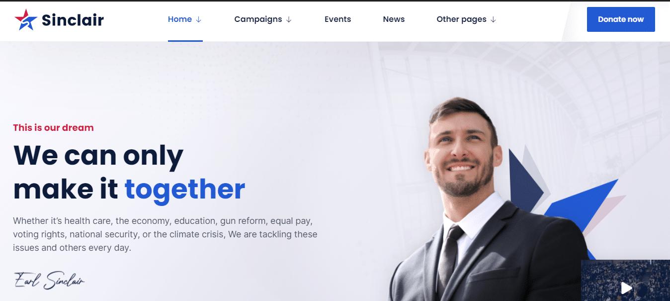 sinclair-political-website-template