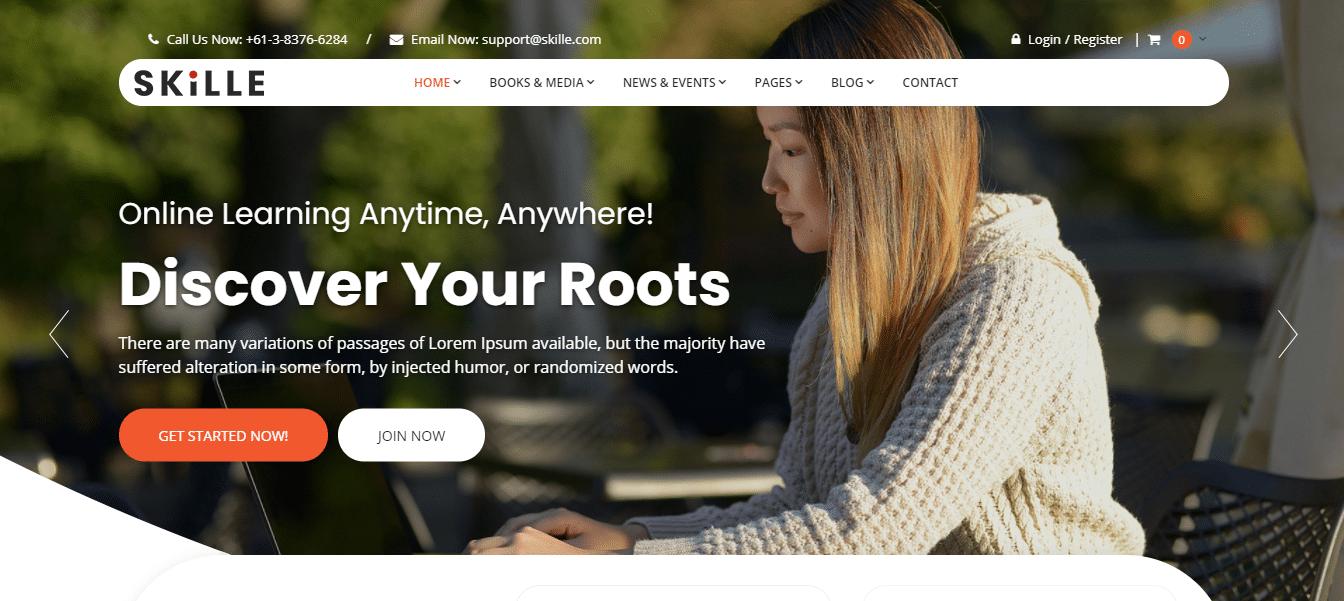 skille-education-website-template
