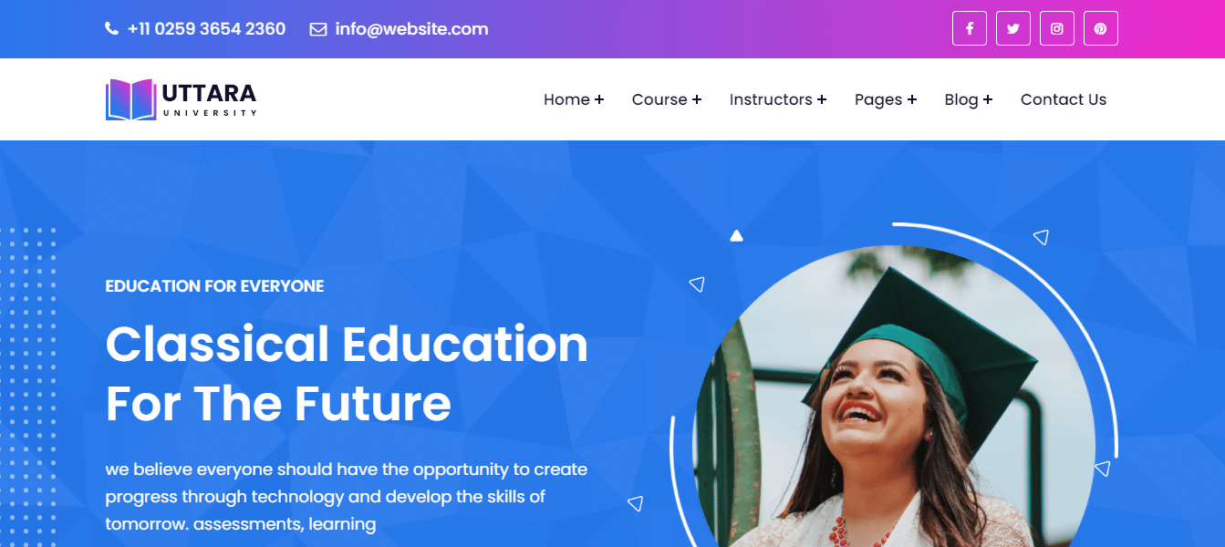 uttara-education-website-template