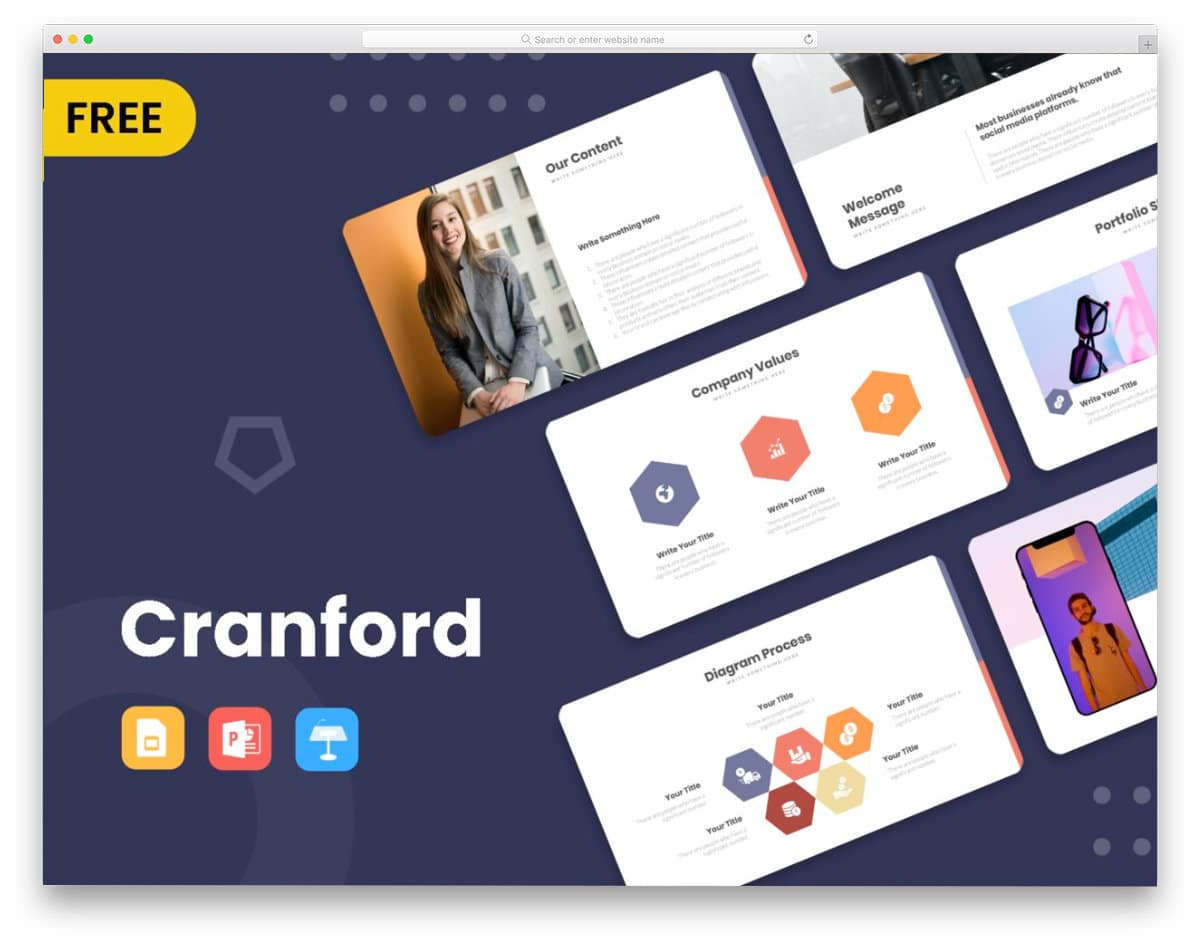 free business PPT powerpoint template