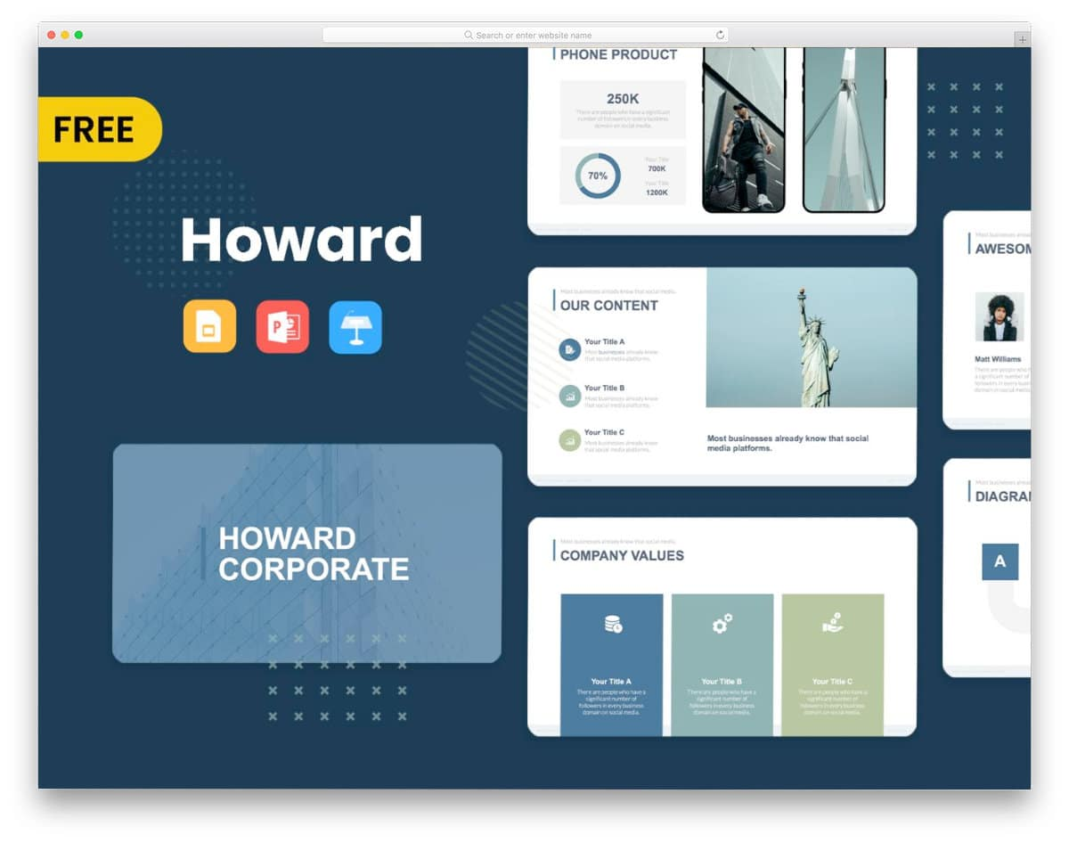 free ppt template for corporate businesses