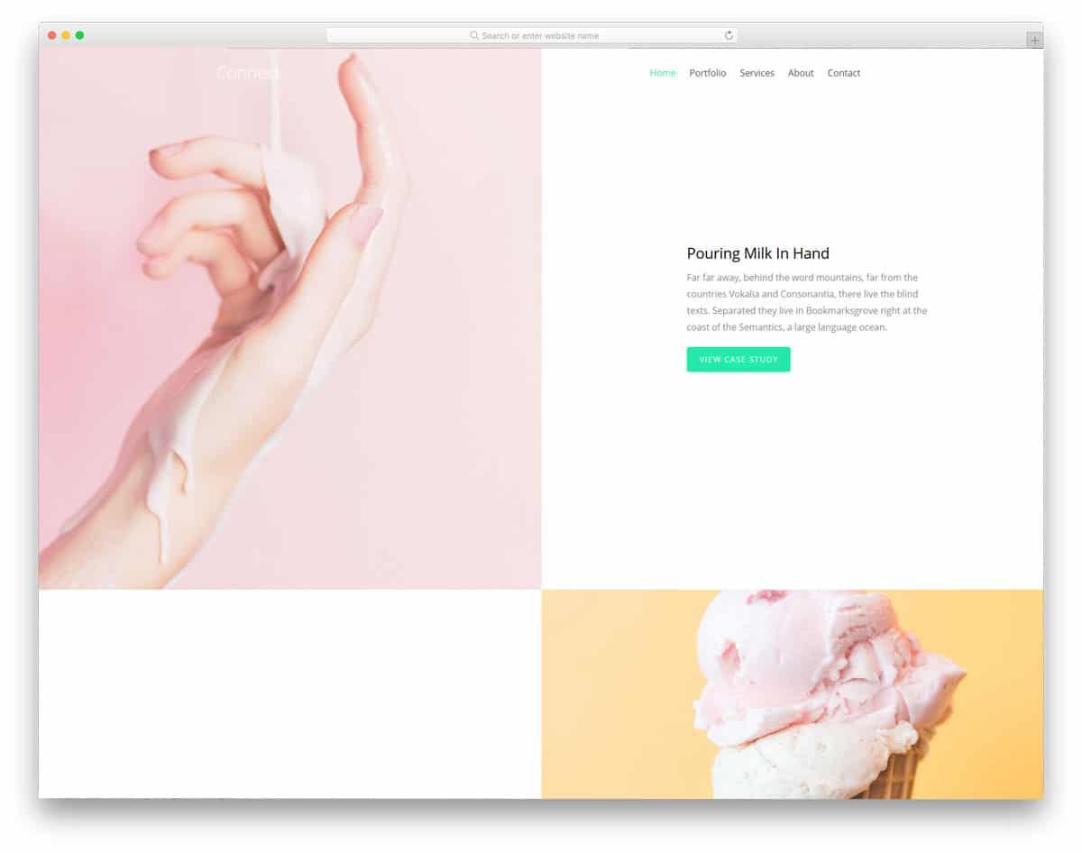 minimal portfolio website template