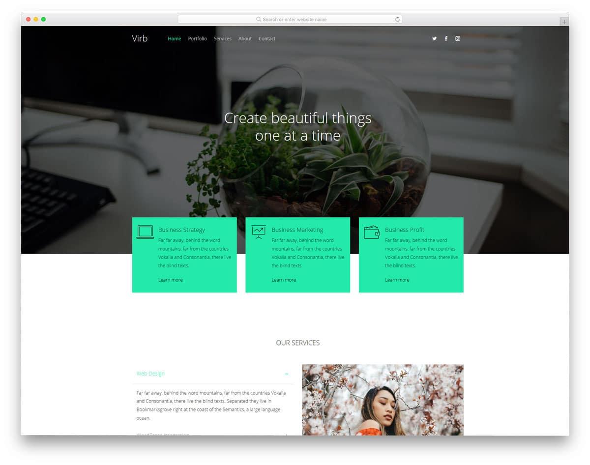 free portfolio website template for businesses