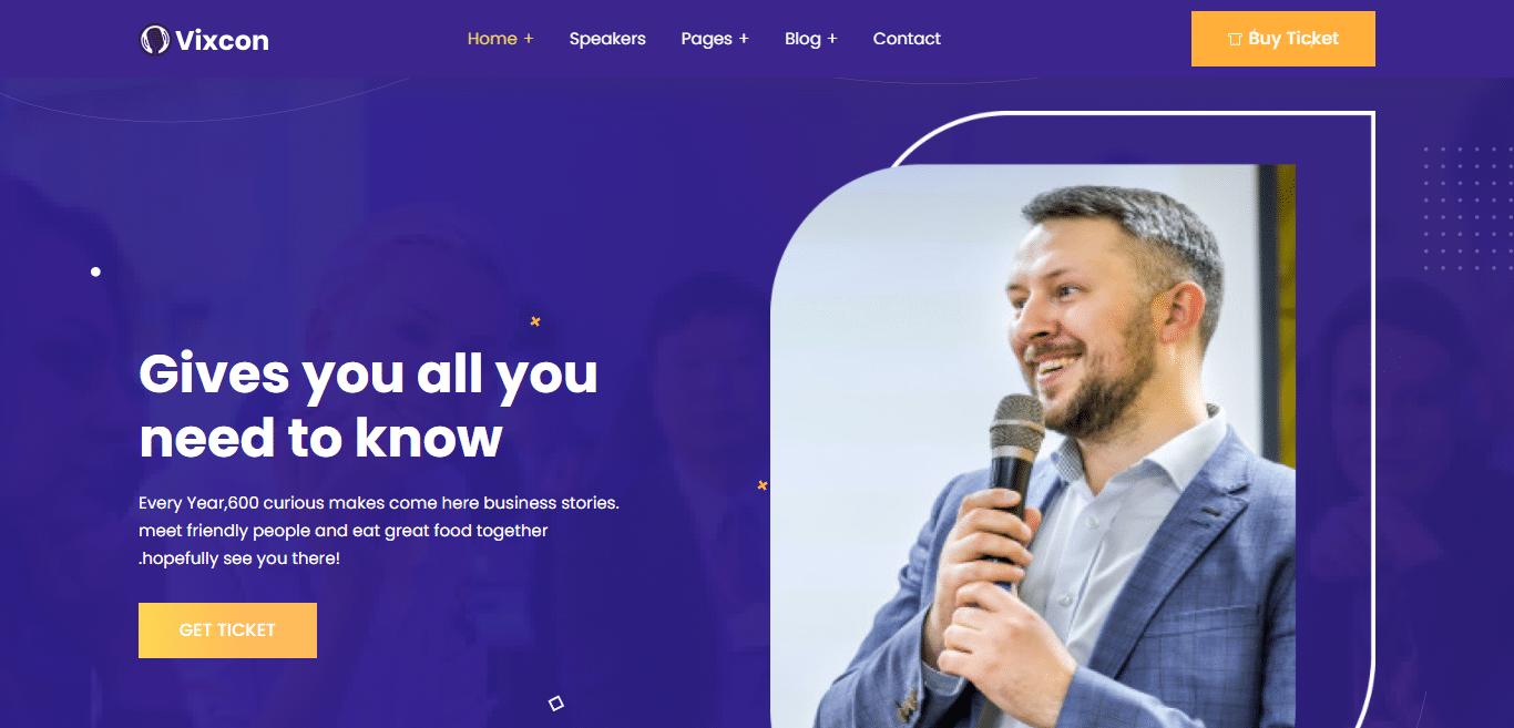 vixcon-event-website-template