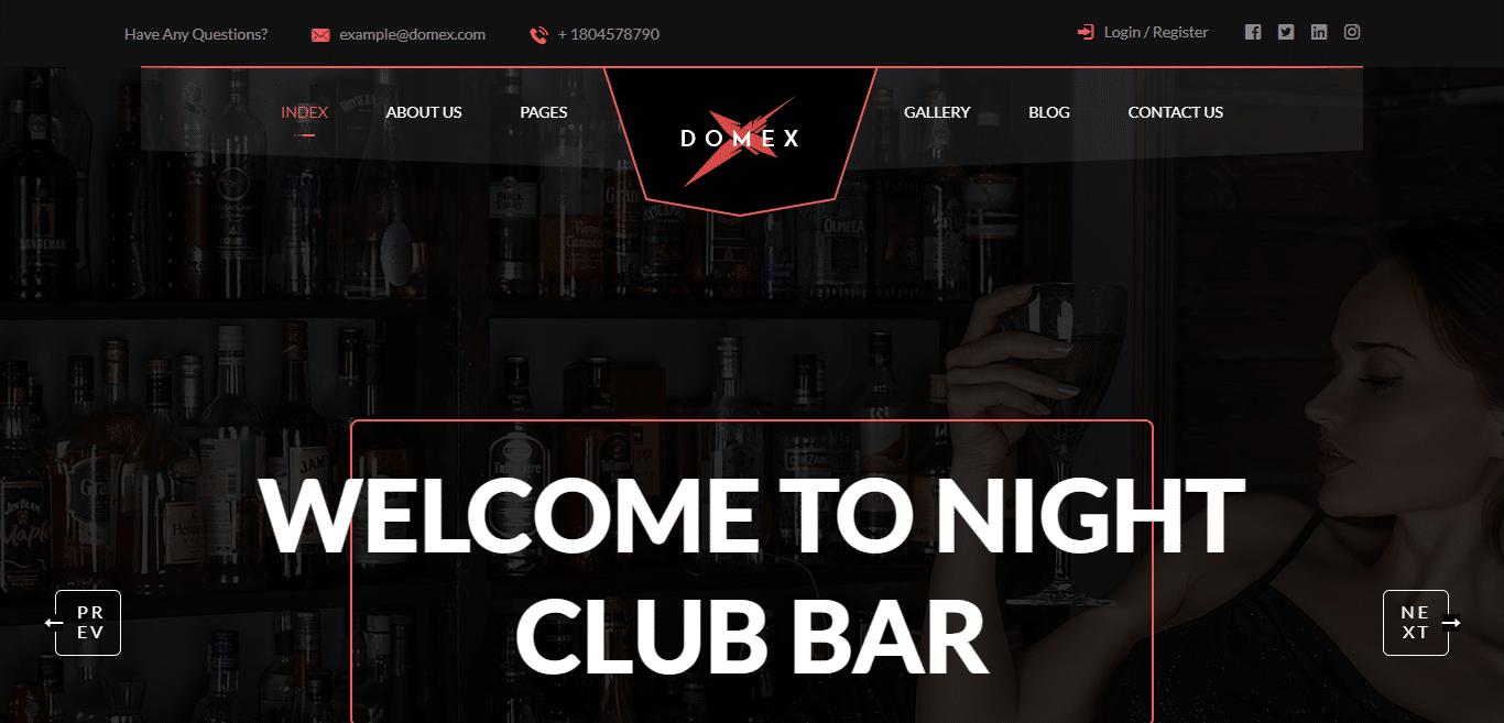 domex-music-website-template