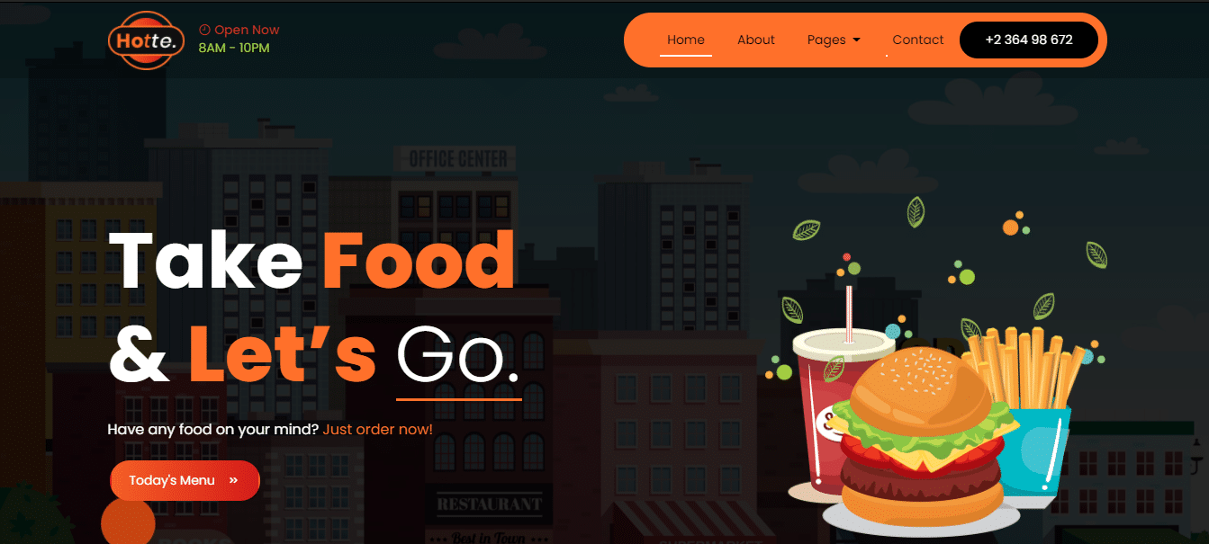 hottee-coffee-website-template