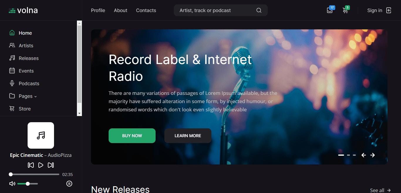 volna-music-website-template