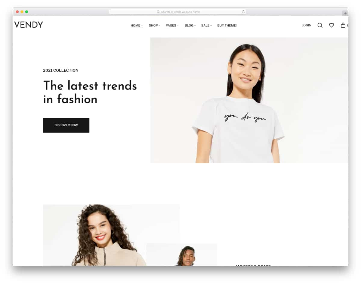 trendy-looking fashion boutique Shopify theme