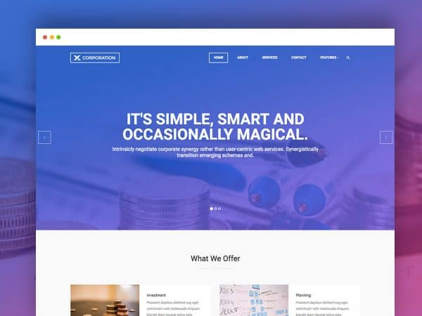 Free Bootstrap HTML Template For Business Firm and Corporate Agency