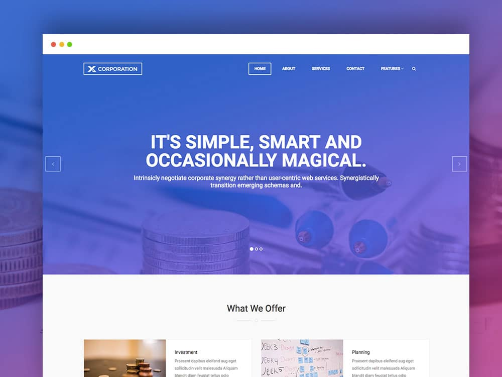 X corporation best free bootstrap html template uicookies for Html header menu templates
