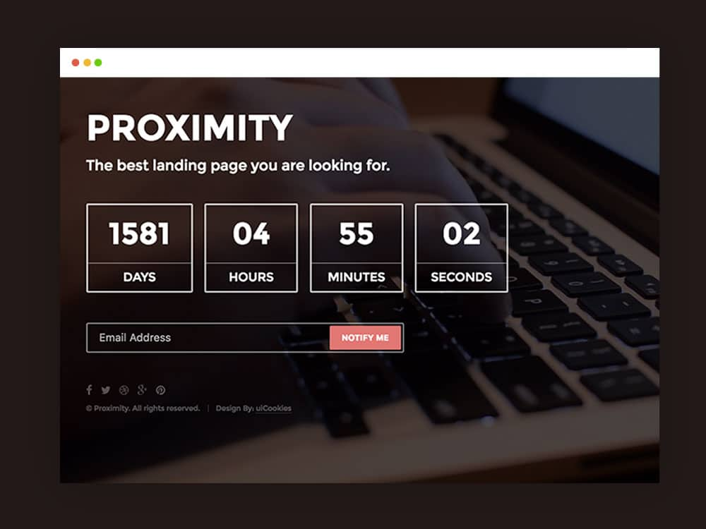 proximity bootstrap under construction web template uicookies