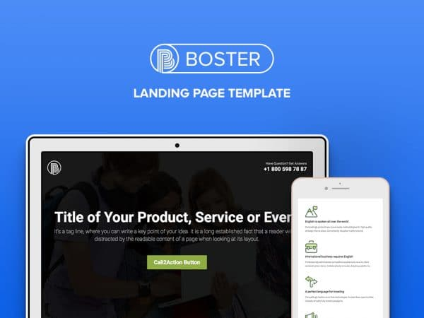 Free Business HTML5 Bootstrap Landing Page Template