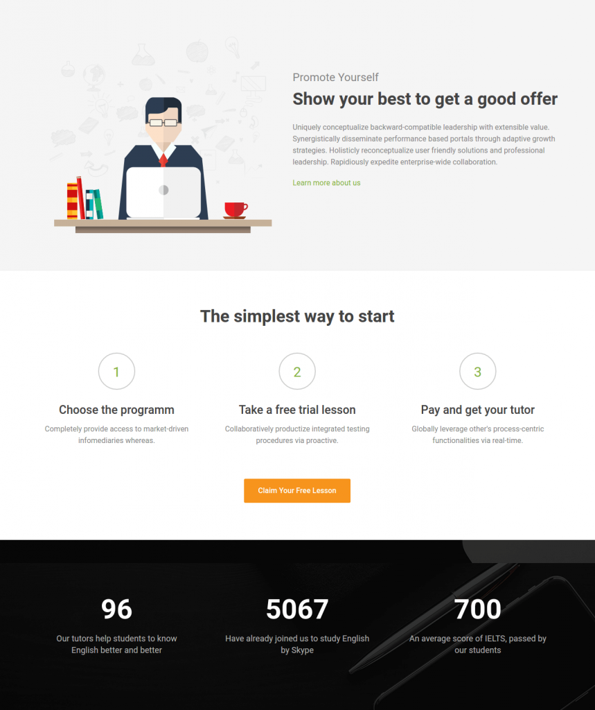 Booster free business bootstrap landing page template uicookes the best performing html5 responsive bootstrap landing page templates come constructed with the logical arrangement of business contents flashek Image collections