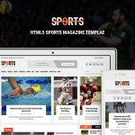 Sports News Portal – Free Bootstrap HTML Magazine Template For Sports Websites
