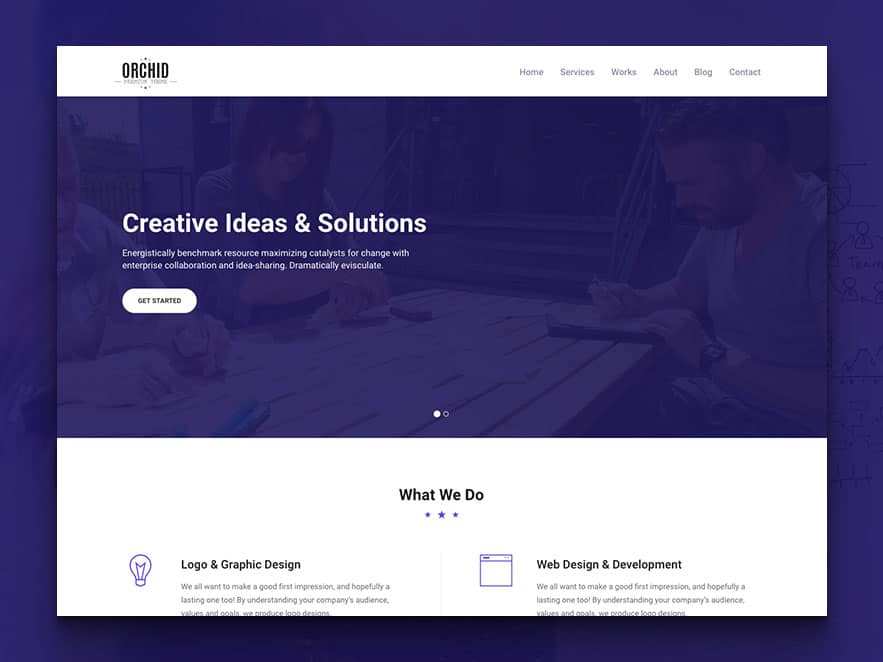 Orchid free html5 business simple portfolio website template simple portfolio website template fbccfo Images