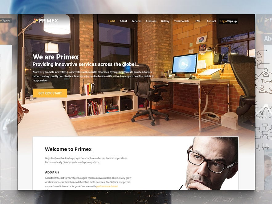 Primex Best Responsive Business Website Template Free With Html5 Css3 And Bootstrap 3