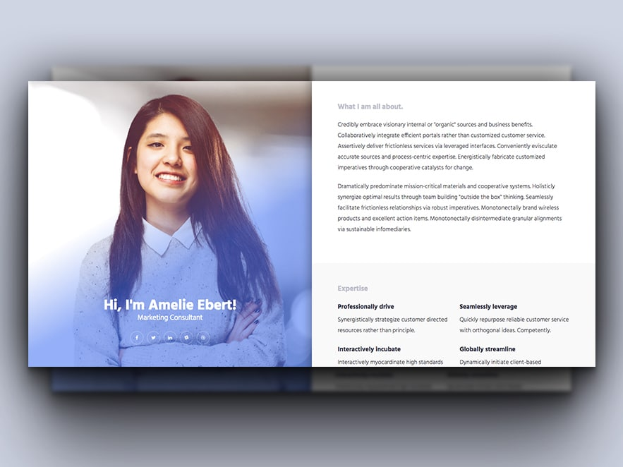 Lovely Free Resume Website Template