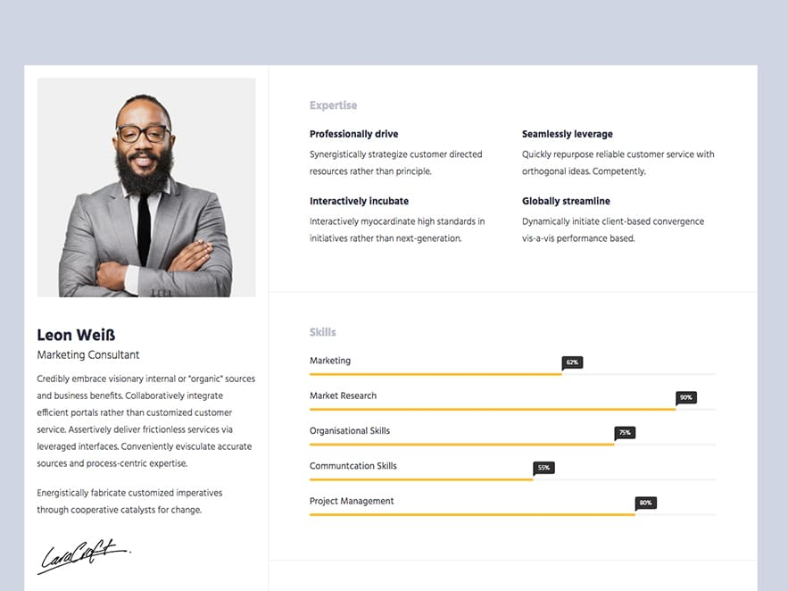 Free Bootstrap Html Online Resume Templates For Cv Website