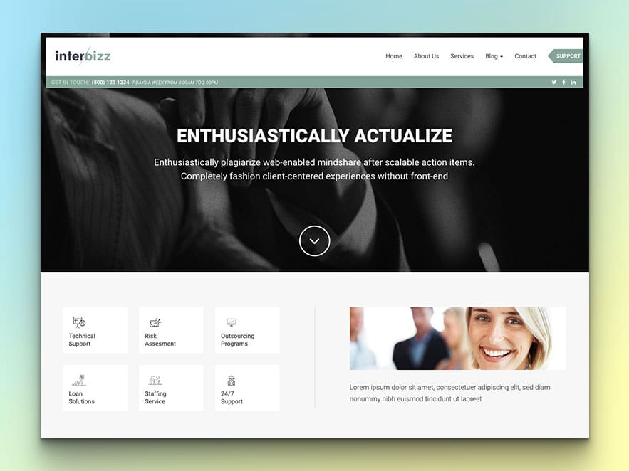 Interbizz - Free Bootstrap Corporate Agency HTML5 Website Template